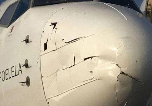 تصادف پهباد و هواپیما