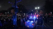 تظاهرات ضد ترامپ در آستانه مراسم تحلیف +تصاویر