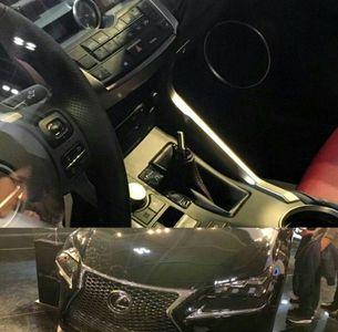 دزدیده شدن سر دنده لکسوس در شلوغی نمایشگاه خودرو شهر آفتاب +عکس