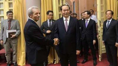 رییسجمهور ویتنام خواستار برقراری روابطبانکی با ایران شد