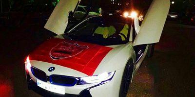 BMW i۸ پرسپولیسی +عکس