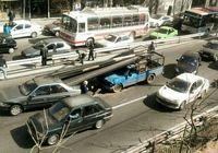 حمل نامناسب تیرآهن در وسط شهر حادثه آفرید