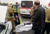 تصادف مرگبار کامیون با پراید در تهران +عکس