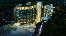 زیباترین هتل جهان در دل معدن سنگ +تصاویر