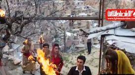 استقبال از نوروز در روستای پالنگان کردستان +فیلم