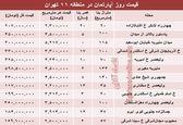 نرخ قطعی آپارتمان در منطقه۱۱ تهران؟ +جدول