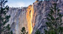 آبشار آتش؛ پدیدهای زیبای پارک ملی کالیفرنیا +تصاویر