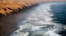 صحرای نامیب کویری پر از آب +عکس